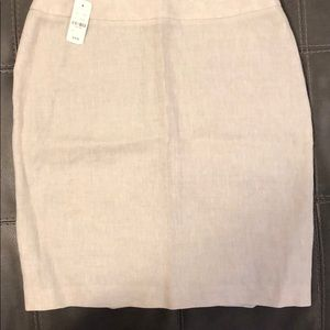 Brooks Brothers Tan Linen Skirt-14 Petite